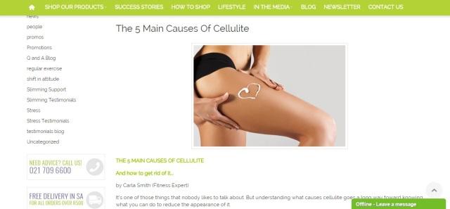 5 Main causes of cellulite