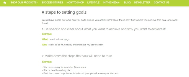5 Steps to setting goals