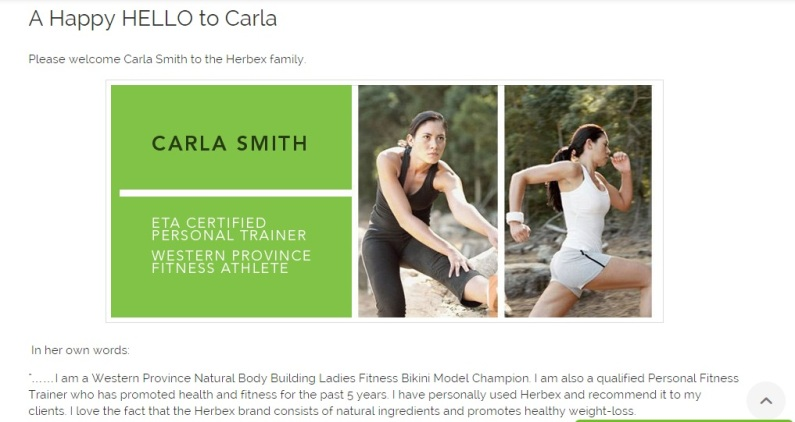 A happy HELLO to Carla SMith