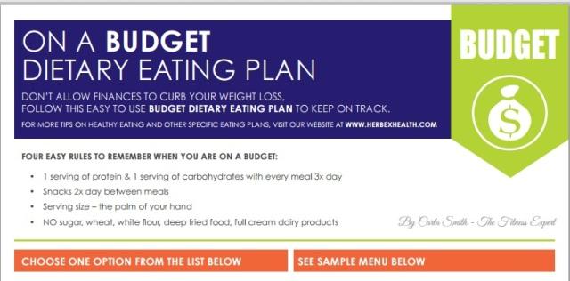 Budget eating plan