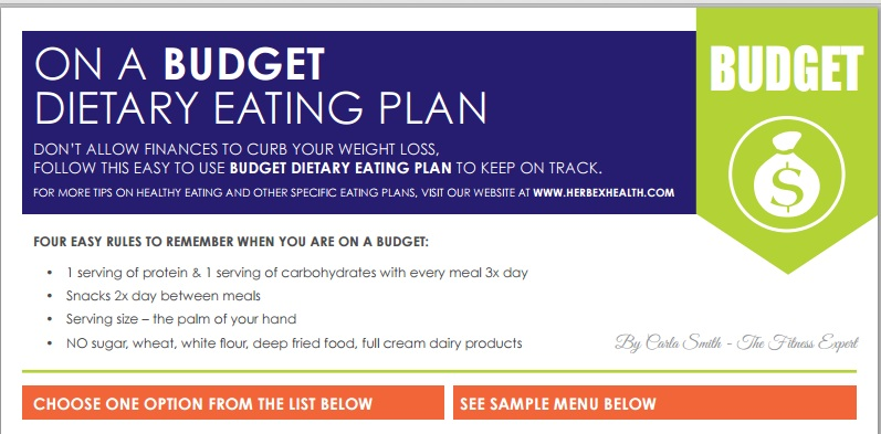 Budget eating plan