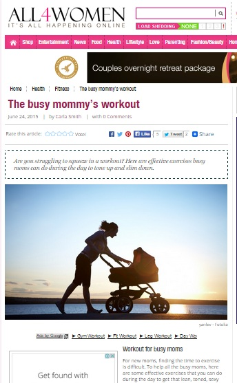 Busy mom's workout