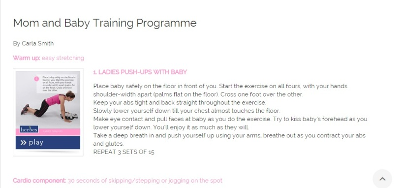 Mom and Baby Training Program