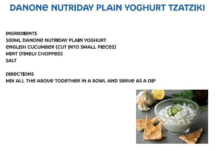 Danone NutriDay plain yoghurt tzatziki