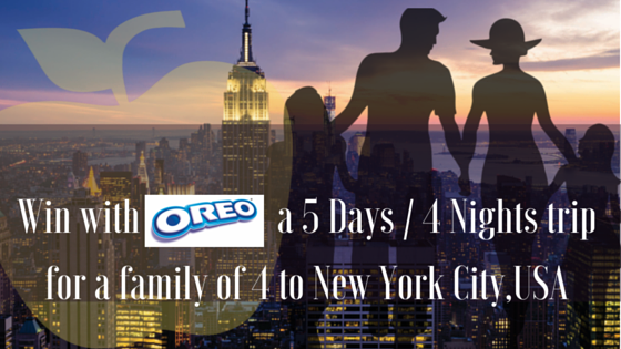 Win of one of 3 family trips to New York City,the birth place of Oreo valued at R200 000.